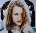 Rosie Huntington Drawing by Lewis3222