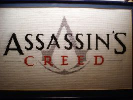Assassin's Creed Logo Cross-Stitch Completed by ConsultingTimeLord96