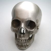 full skull ring in silver by noformdesign