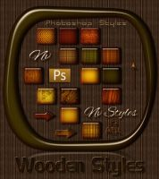 Wooden styles for Photoshop by Natalivesna