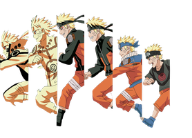 Naruto's Evolution Render by Kakashidoe