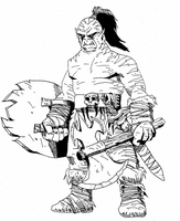 An orc by RedMcSpoon