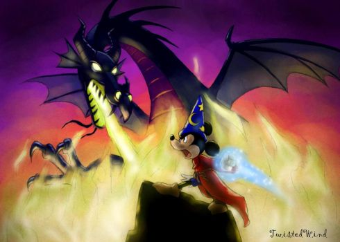 Mickey vs Maleficent by twisted-wind