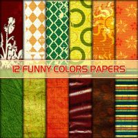 Funny Colors Scrapbook Papers by noema-13
