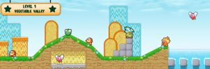 Kirby's Adventure HD - Vegetable Valley by DPghoastmaniac2