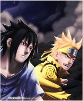 .: We fight together! :. Naruto 641 by Amandine-f