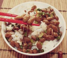 natto rice by Rappappa