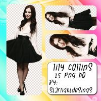 +Png Pack 0100 - Lily Collins by StarlightDesings