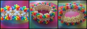 Kawaii Cream Rainbow Cuff! by gwennimarie