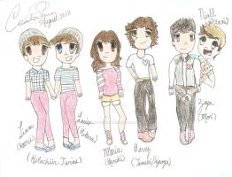 1D Host Club: the characters: by Toadettesupahfan18