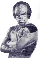 Worf in pencil. by thorr