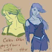 FF6- more hairstyles by orinocou