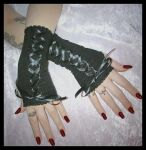 EGL Corset Fingerless Gloves by ZenAndCoffee
