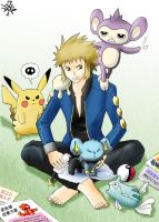 Volkner and His Pokemons by Florensa