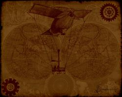 Another Steampunk Wallpaper by MyScarredHeart