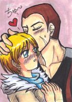 Sketch Card - Jake Muller x Sherry Birkin by KimMcCloud