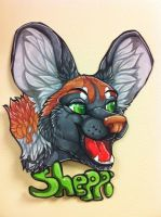 Sheppi headshot commission by nightspiritwing