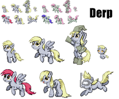 ponymon sprites: Derpy Evolutions by DMN666