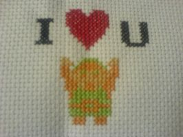 Legend of Zelda V-day X-stitch by theygotme