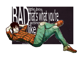 Bad Little Boy. by Stitchy-Face
