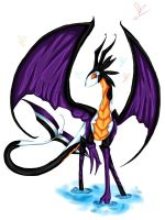 Little Water Fly Skywarp Dragon by Idigoddpairings