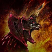 Heisei head shots Destroyah by gfan2332