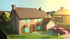 Simpsons House by CGglen