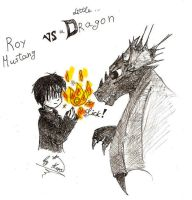 Roy vs a Dragon by psyAlera