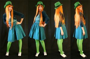 lucky leprechaun by faestock
