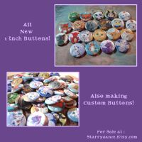 All New 1 Inch Buttons by Starrydance