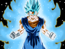 Vegetto Super Saiyan Blue (Wallpaper) by Frost-Z