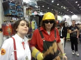 TF2 engineer and medic cosplay by myistic