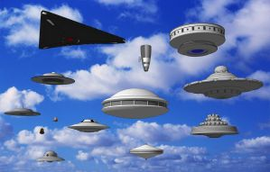 Watch the Sky - SketchUp 3D UFO Collection by JayThurman