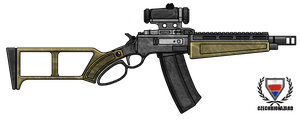 Fictional Firearm: HC-308 Lever-Action Rifle by CzechBiohazard