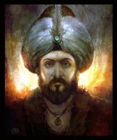 Sultan Mehmed II by alikasapoglu