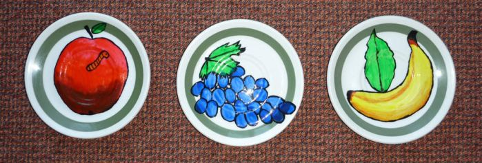 Painted Fruit Plates by kocanek