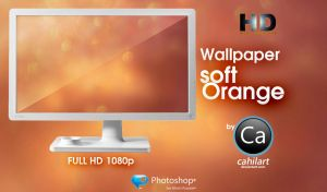Wallpaper HD Soft Orange by CaHilART