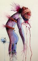 Sacrifice   Watercolor Painting by LordColinOneal