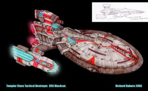 Star Trek Federation Destroyer by Richard-Daborn