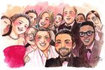 The Oscar Selfie by LeorenArt