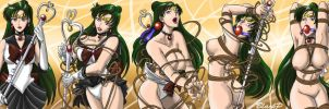 The evolution of Sailor Pluto by BlackProf