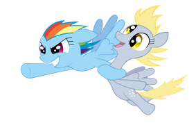Rainbow Dash and Derpy by akeel465
