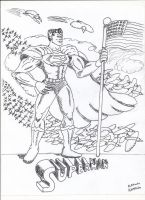Superman in Fineliner by AlexRaven2