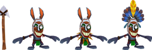Voodoo Bunny (Crash of the Titans) Model by CRASHARKI