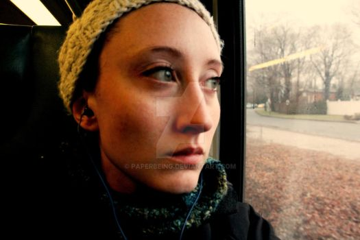Self on a Train by PaperBeing