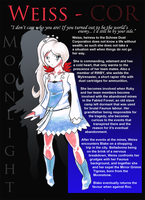 Weiss Schnee - Moonlight Character Sheet by DeadlyObsession