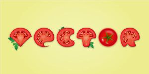 Create a Detailed Tomato Text Effect in Adobe Illu by freebiespsd