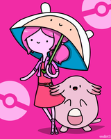 Parasol Lady Bubblegum by vividbit