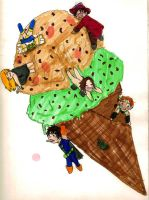 Chibi-net: Ice-cream by notanotherzombie