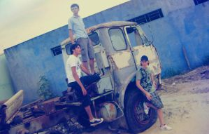 us and the old truck by jsouzaprimo
